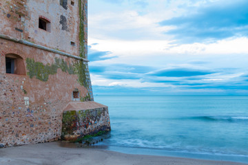 Torre Mozza old coastal tower in Tuscany