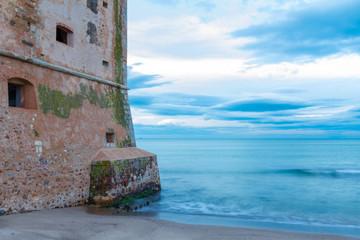 Torre Mozza old coastal tower in Tuscany
