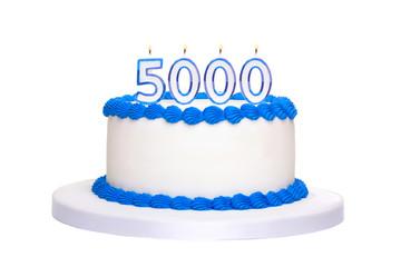 5000th birthday cake