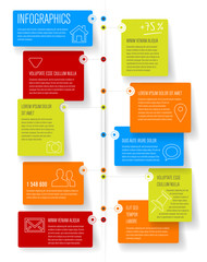 Timeline and frames - infographic template