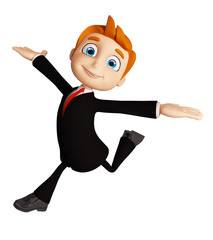 Businessman with running pose