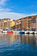 View on Port of Nice and Luxury Yachts, France