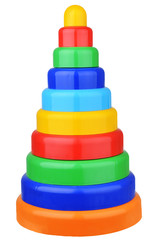 pyramid toy isolated on white background