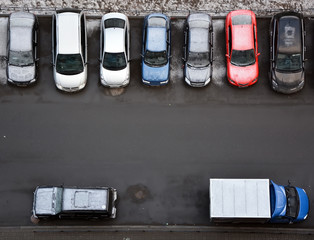 Typical parking places in Saint-Petersburg