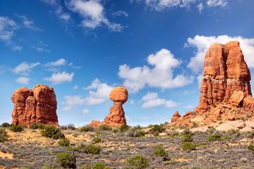 Balanced Rock at Arches National Park, Utah, United States