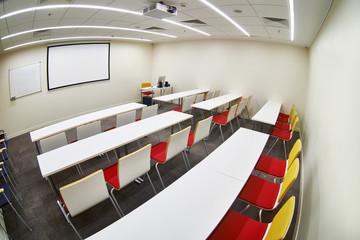 Empty modern classroom
