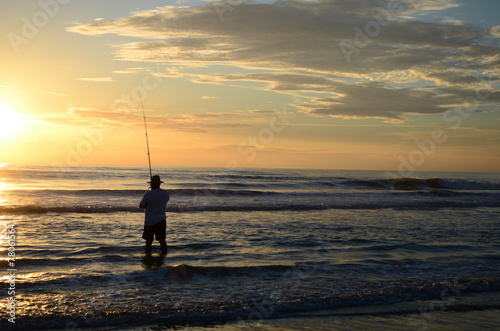 Fotobehang Vissen Fisherman0850