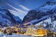 Leinwandbild Motiv ski resort in French Alps