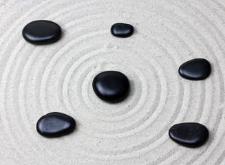 Japanese zen garden meditation stone...