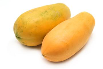 whole ripe papaya fruit