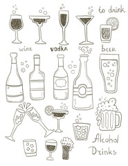 Alcohol Doodles Set
