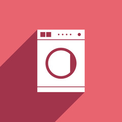 Flat Icon of washing machine