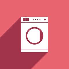 Flat Icon of washing machine