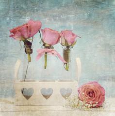 Glückwunschkarte - Rosen - Shabby Chic