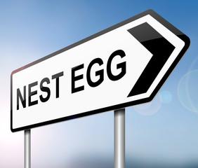 Nest egg concept.