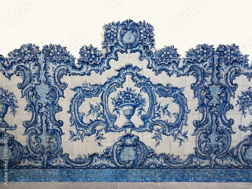 Leinwandbild Motiv Traditionelle portugiesische Azulejos, Kachelmalerei