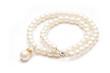 Leinwandbild Motiv Pearl necklace isolated on white