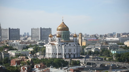 Restoration of the main dome of Cathedral of Christ the Saviour