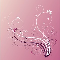 flourish in pink and violet
