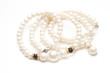 Beautiful pearl necklace on white - 78066144