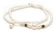 Beautiful pearl necklace on white - 78066511