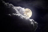 Fototapety Full moon overcast night
