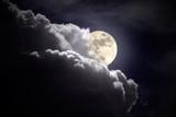 Fototapety Full moon overcast night