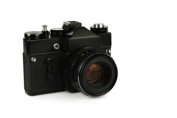 Old retro 35mm film slr camera