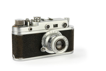 Old retro 35mm film camera