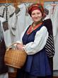 Ukrainian woman in the traditional garment