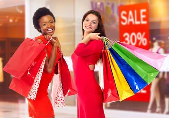 Shopping women.