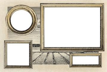 Gallery of vintage frames