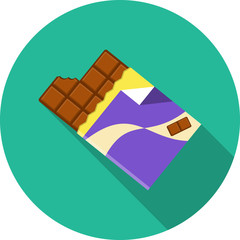 Chocolate.Vector Flat Illustration