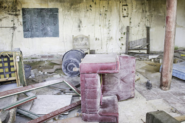 Abandoned house ruins