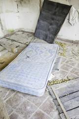 Mattress abandoned house