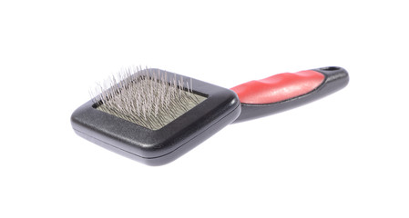 Comb for Animals. Grooming. Isolated on White Background.