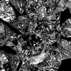 Diamonds 3d in composition as concept