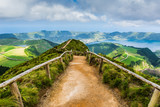 Walking path to the lakes of Sete Cidades, Azores - 78070595