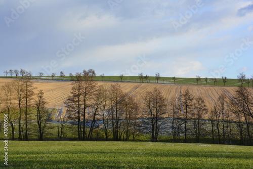 canvas print picture Landschaft in Sachsen
