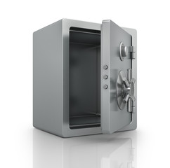 Realistic steel bank safe.