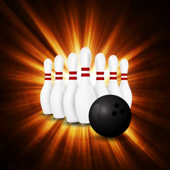 Bowling concept of sport.