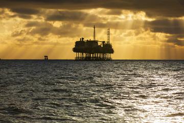 Oil platform silhouette