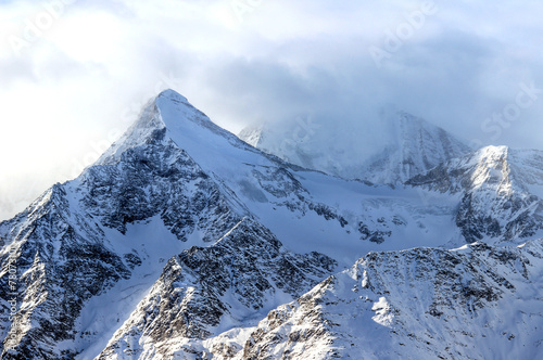 canvas print picture Swiss Alps winter