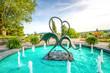 Leinwanddruck Bild - Schwanenbrunnen, Insel Mainau
