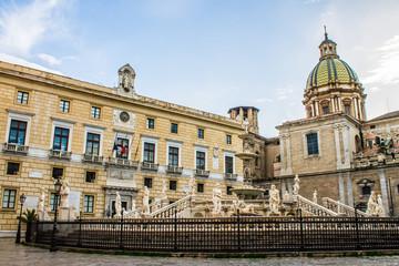 Praetoria square in Palermo