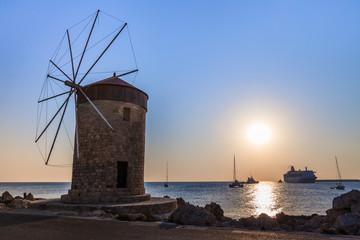 windmill at Rhodes Greece