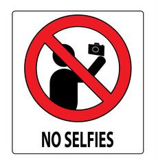 No selfies label