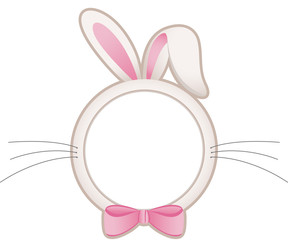 Easter bunny head frame