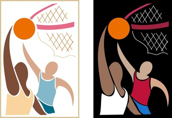 basketball semi-abstract