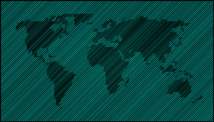 World map diagonal dark green EPS 10